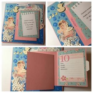 Mesekönyvszerű, egyedi, kézműves baba emlékkönyv a baba első éve legemlékezetesebb pillanatainak, baba fotóalbum,  (Jbgifts) - Meska.hu