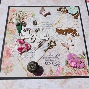 Our wedding day - egyedi, kézműves esküvői scrapbook album, emlékkönyv dobozban (Jbgifts) - Meska.hu