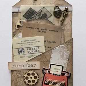 Egyedi, kézműves üdvözlő-, köszönő- és ajándékkártya, vintage, tag, , Otthon & lakás, Naptár, képeslap, album, Ajándékkísérő, Papírművészet, Ha az ajándékod mellé szeretnél egy különleges ajándék-, köszönő- vagy üdvözlő kártyát, akkor ezeket..., Meska