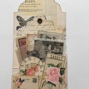 Egyedi, kézműves üdvözlő-, köszönő- és ajándékkártya, vintage, tag,  (Jbgifts) - Meska.hu