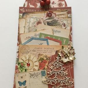 Egyedi, kézműves karácsonyi üdvözlő-, köszönő- és ajándékkártya, vintage, tag, , Otthon & lakás, Naptár, képeslap, album, Ajándékkísérő, Papírművészet, Ha a karácsonyi ajándékod mellé szeretnél egy különleges ajándék-, köszönő- vagy üdvözlő kártyát, ak..., Meska