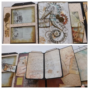 Travel memories - egyedi, kézműves útinapló, emlékkönyv az utazás szerelmeseinek, pop up album, scrapbook, Album & Fotóalbum, Papír írószer, Otthon & Lakás, Papírművészet, Szeretsz utazni és szeretnéd az utad minden emlékezetes pillanatát egyedi módon megőrizni? Akkor ez ..., Meska