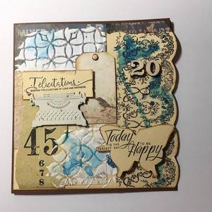 Egyedi, kézműves mixed media képeslap esküvő alkalmából az ifjú pár köszöntésére, mixed media, Képeslap & Levélpapír, Papír írószer, Otthon & Lakás, Papírművészet, Nagyon egyedi képeslapot készítettem, melyben üdvözölheted az ifjú párt, vagy melyben ajándékként át..., Meska