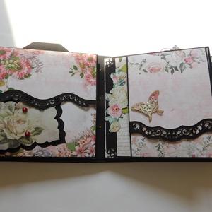 Flowers - egyedi, kézműves esküvői vagy évfordulós scrapbook album, emlékkönyv, fotóalbum, virágos, Album & Fotóalbum, Emlék & Ajándék, Esküvő, Papírművészet, Gyönyörű, egyedi kézműves esküvői vagy évfordulós fotóalbum, melyben megörökítheted a nagy nap vagy ..., Meska