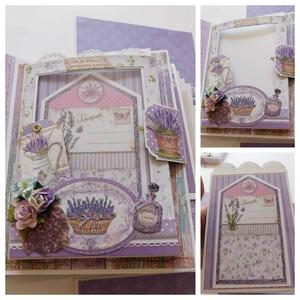 Provence- egyedi, kézműves esküvői vagy évfordulós scrapbook album, emlékkönyv, fotóalbum, virágos, Album & Fotóalbum, Emlék & Ajándék, Esküvő, Papírművészet, Gyönyörű, egyedi kézműves esküvői vagy évfordulós doboz fotóalbum, melyben megörökítheted a nagy nap..., Meska