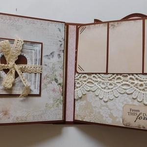"""""""Rokonlelkek""""- egyedi, kézműves esküvői scrapbook album, Otthon & Lakás, Album & Fotóalbum, Papír írószer, Gyönyörű, egyedi, kézműves esküvői scrapbook albumot készítek, melyben megőrízheted életed egyik leg..., Meska"""