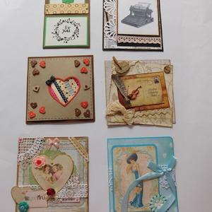 Akciós egyedi, kézműves képeslap csomag, Otthon & Lakás, Papír írószer, Képeslap & Levélpapír, Papírművészet, Az alábbi egyedi, kézműves képeslap csomag limitált példányszámú, azaz ez az egy van belőle. Azonnal..., Meska