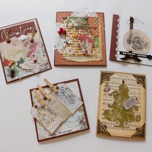 Karácsonyi képeslap csomag 2020 - egyedi, kézműves karácsonyi képeslapok. karácsony, Christmas cards, Karácsony & Mikulás, Karácsonyi képeslap, Papírművészet, A Karácsony 2020 képeslapsorozatom annyira egyedi, hogy a sorozatban lévő minden képeslapból egyetle..., Meska