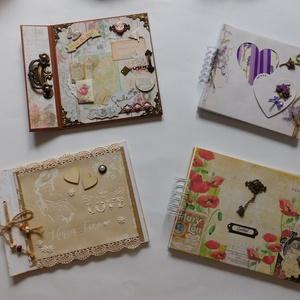 Esküvői emlékkönyvek, fotóalbumok vagy vendégkönyvek, rusztikus, levendula, pipacs, Esküvő, Emlék & Ajándék, Vendégkönyv, Papírművészet, Különleges, egyedi, kézműves esküvői emlékkönyveket, fotóalbumokat vagy vendégkönyveket készítettem ..., Meska