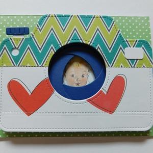 Helló világ! - babaképeslap vagy keresztelői meghívó saját fotóval,  egyedi, kézműves képeslapok, keresztelői meghívók, Otthon & Lakás, Papír írószer, Képeslap & Levélpapír, Papírművészet, Egyedi, különleges, kézműves pop up képeslapot  készítettem baba születése alkalmából vagy keresztel..., Meska