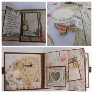 50! - egyedi, kézműves scrapbook születésnapi album, Otthon & Lakás, Papír írószer, Album & Fotóalbum, Papírművészet, Ez az album egy hölgy 50. születésnapjára készült, melyben első 50 évének legfontosabb állomásai jel..., Meska