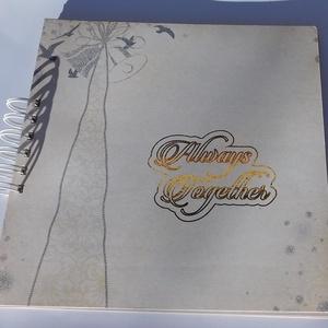 Egyedi, kézműves esküvői fotóalbum, emlékkönyv, vendégkönyv, Esküvő, Emlék & Ajándék, Album & Fotóalbum, Papírművészet, Gyönyörű, egyedi, kézműves scrapbook fotóalbum, emlékkönyv vagy vendégkönyv, melyet Always Together ..., Meska