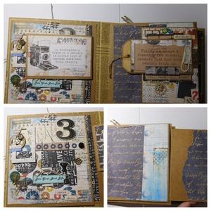 All about me - scrapbook album, birthday album, Otthon & Lakás, Papír írószer, Album & Fotóalbum, Papírművészet, Szeretnéd egy különleges ajándékkal meglepni szerettedet, születésnapja alkalmából? Igazán jó erre e..., Meska