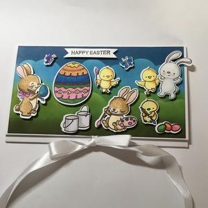 Egg-Art - Húsvéti pénzátadó, easter card, money envelope, cute cards, Otthon & Lakás, Papír írószer, Boríték, Nagyon aranyos pénzátadó borítékot készítettem, melyben átnyújthatod a pénzajándékodat szerettednek ..., Meska