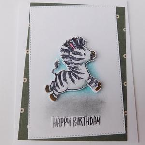 Happy birthday, little one! - egyedi babaképeslap, baby shower, cute cards, születésnapi képeslap, Otthon & Lakás, Papír írószer, Képeslap & Levélpapír, Nagyon aranyos, egyedi, kézműves babaképeslapot készítettem baba, kisgyerek születésnapja alkalmából..., Meska