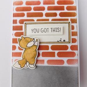 You  got this! - egyedi kézműves képeslap ballagásra, cute cards, animal cards, Otthon & Lakás, Papír írószer, Képeslap & Levélpapír, Nagyon aranyos, egyedi, kézműves képeslapot készítettem, mellyel köszöntheted ballagó, lediplomázott..., Meska