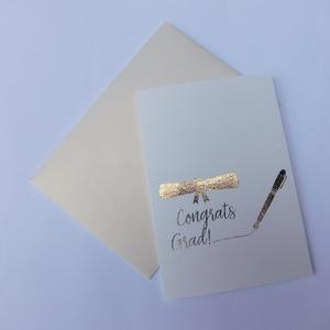 You  got this! - egyedi kézműves fóliázott képeslap ballagásra, diplomaosztóra, foil cards, Otthon & Lakás, Papír írószer, Képeslap & Levélpapír, Szép, egyedi, kézműves képeslapot készítettem, mellyel köszöntheted ballagó, diplomázott gyermeked. ..., Meska