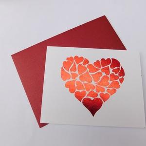 I love you Mom - Fóliázott képeslap Anyák napjára vagy születésnapra, foil card, , Otthon & Lakás, Papír írószer, Képeslap & Levélpapír, Gyönyörű, egyedi, kézműves képeslapot készítettem Anyák napja alkalmából. A képeslap alapja 220 gram..., Meska