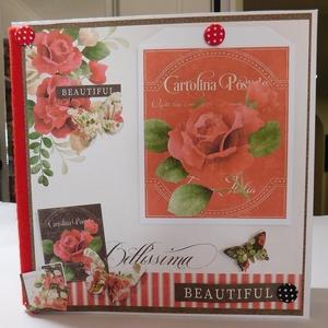 Bellissima - gyönyörű, egyedi, kézműves scrapbook fotóalbum születésnapra, évfordulóra vagy esküvőre, Otthon & Lakás, Papír írószer, Album & Fotóalbum, Gyönyörű, egyedi, kézműves scrapbook fotóalbum születésnapra, évfordulóra vagy esküvőre. Az album te..., Meska