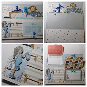 """""""Mi amado angelito!"""" - egyedi, kézműves scrapbook babakönyv kisfiúknak, Otthon & Lakás, Papír írószer, Album & Fotóalbum, Ez a nagyméretű, teljes mértékben kézzel készült babakönyv kicsit interaktív, kicsit hagyományos. 14..., Meska"""