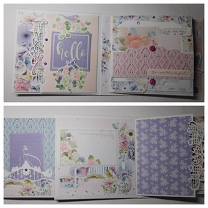 For a Dreamer- gyönyörű, egyedi, kézműves scrapbook fotóalbum születésnapra, évfordulóra vagy esküvőre, eljegyzésre, Otthon & Lakás, Papír írószer, Album & Fotóalbum, Gyönyörű, egyedi, kézműves scrapbook fotóalbum születésnapra, évfordulóra vagy esküvőre. Az album te..., Meska