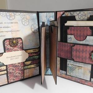 Emlékül - steampunk stilusu óvodai ballagó fotóalbumok , Otthon & Lakás, Ovi- és sulikezdés, Papír írószer, Album & Fotóalbum, Nagyon vagány, óvodai ballagó steampunk stilusu fólio- fotóalbumokat készítettem, melyeket a szülők ..., Meska
