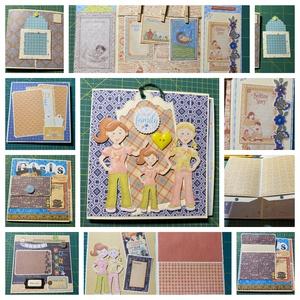 A felnőtt kor határán - egyedi, kézműves interaktív születésnapi scrapbook album személyre szabva, Otthon & Lakás, Papír írószer, Album & Fotóalbum, Papírművészet, Meska