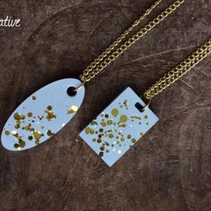 Arany pöttyös beton nyaklánc (Jcreative) - Meska.hu