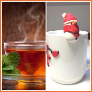 Hóember  teafiltertartó, Otthon & lakás, Konyhafelszerelés, Gyurma, Süthető gyurmából készült teafiltertartó., Meska