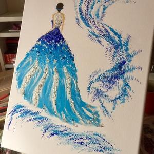 Hercegnő , Otthon & lakás, Képzőművészet, Festmény, Akril, Dekoráció, Napi festmény, kép, Festészet, Egy szintén divatos kép ... A hercegnő egy szalon vagy egy leányzó szobájának szép dekorációja lehet..., Meska