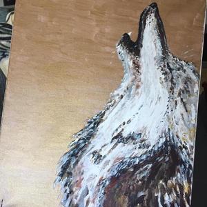 A farkas vonyitas , Otthon & lakás, Képzőművészet, Festmény, Akril, Dekoráció, Napi festmény, kép, Festészet, Egy szintén divatos kép ...# A farkas vonyitas #egy otthon szép dekorációja lehet ...   :) egy moder..., Meska