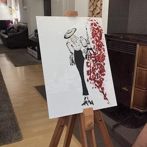A làny Parisban , Otthon & lakás, Képzőművészet, Festmény, Akril, Dekoráció, Napi festmény, kép, Festészet, Egy szintén divatos kép ...#  A làny Parisban #egy otthon szép dekorációja lehet ...   :) egy modern..., Meska