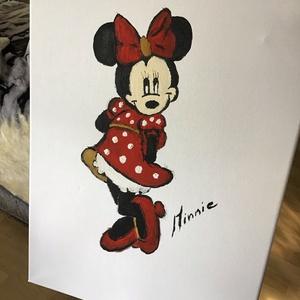 Minnie mouse Art paint, Otthon & lakás, Képzőművészet, Festmény, Akril, Dekoráció, Napi festmény, kép, Festészet, Egy szintén divatos kép ...#  Mickey&minnie mouse   #egy otthon szép dekorációja ...   :) egy modern..., Meska