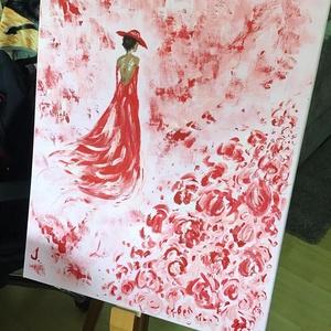 Rose Ladies Art paint ( janosszecsi ), Otthon & lakás, Képzőművészet, Festmény, Akril, Dekoráció, Napi festmény, kép, Egy szintén divatos kép ...#  Rose ladies   #egy otthon szép dekorációja ...   :) egy modern környez..., Meska