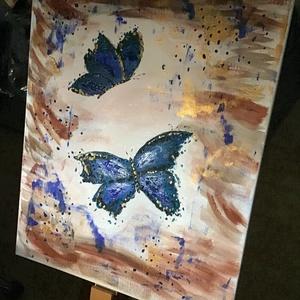 Pillangó Art paint, Otthon & lakás, Képzőművészet, Festmény, Akril, Dekoráció, Napi festmény, kép, Egy szintén divatos kép ...   #egy divatos otthon szép dekorációja ...   :) egy modern környezetbe ...., Meska