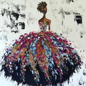 Fashion  Art paint (janosszecsi ) colors dress, Művészet, Festmény, Akril, Festészet, Egy szintén divatos kép ...#  fashion colors Art   #egy otthon szép dekorációja ...   :) egy modern ..., Meska