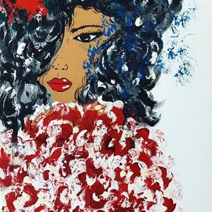 Rose Ladies Art paint ( janosszecsi ), Akril, Festmény, Művészet, Festészet, Egy szintén divatos kép ...#  Rose ladies   #egy otthon szép dekorációja ...   :) egy modern környez..., Meska