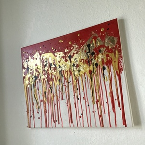 Abstract Art paint (janosszecsi ) karacsonyi cukor maz, Művészet, Festmény, Akril, Festészet, Egy szintén divatos kép ...#  fashion #egy otthon szép dekorációja ...   :) egy modern környezetbe ...., Meska