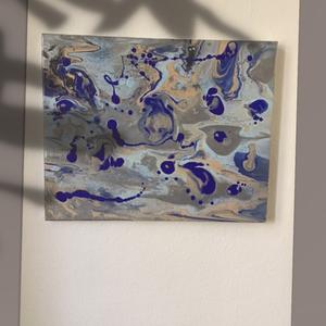Abstract Art paint (janosszecsi ) kek, Művészet, Festmény, Akril, Festészet, Egy szintén divatos kép ...#  fashion #egy otthon szép dekorációja ...   :) egy modern környezetbe ...., Meska