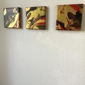 Abstract Art paint (janosszecsi ) karacsonyi pompa modert art 3 db os, Művészet, Festmény, Akril, Festészet, Egy szintén divatos kép ...#  fashion #egy otthon szép dekorációja ...   :) egy modern környezetbe ...., Meska
