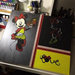Minnie mouse Art paint, Akril, Festmény, Művészet, Festészet, Egy szintén divatos kép ...#  Mickey mouse   #egy otthon szép dekorációja ...   :) egy modern környe..., Meska