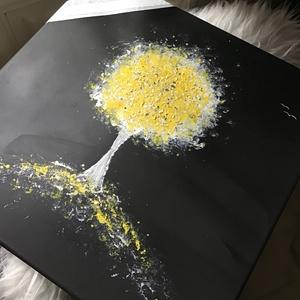 Élet fájlja (janosszecsi ) sárga plusz csillam , Művészet, Festmény, Akril, Festészet, Egy szintén divatos kép ...#  fashion #egy otthon szép dekorációja ...   :) egy szép környezetbe dek..., Meska