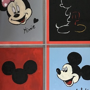 Mickey mouse Art paint , Akril, Festmény, Művészet, Festészet, Egy szintén divatos kép ...#  Mickey mouse   #egy otthon szép dekorációja ...   :) egy modern környe..., Meska