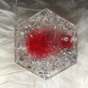 Epoxy Resin Art (medál), Ékszer, Nyaklánc, Gyöngyös nyaklác, Gyöngyfűzés, gyöngyhímzés, Epoxi gyantával készült Medál egy szép dekoratív nyakláncként használható... \n\n , Meska