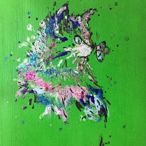 Animals Art paint ( janosszecsi ), Művészet, Festmény, Akril, Festészet, Egy szintén divatos kép \nOtthoni dekoráció .... \nEgyedi és kézműves\nAkril festek \nMéret: \n\nArt ☝art ..., Meska