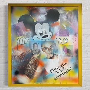 Mickey Mouse Art (sárga keret) - Meska.hu