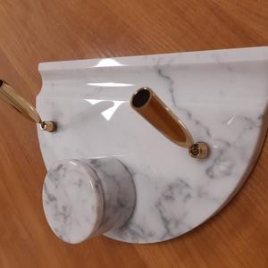 Márvány íróasztali készlet - Carrarai fehér - 24 x 16 cm félköríves (JEmi) - Meska.hu