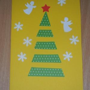 Karácsonyi üdvözlőkártya, Ajándékkísérő, Papír írószer, Otthon & Lakás, Mindenmás, A kártyák alkalmasak egyedi karácsonyi üdvözlőkártyáként, vagy ajándékkísérő kártyának. Méretei: 11*..., Meska