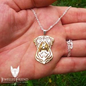 Bullmastiff ezüst medál díszdobozban (jewelledfriend) - Meska.hu