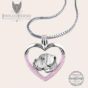 Boxer kutya ezüst medál Swarovski kővel díszítve nyaklánccal díszdobozban, Ékszer, Nyaklánc, Medál, Állatfelszerelések, Lakberendezés, Otthon & lakás, Ékszerkészítés, Ötvös, Boxer kutya szerelmeseinek, ez az ékszer egy kötelező darab! Öltözz kutyusodhoz, és indulhat a nap!\n..., Meska